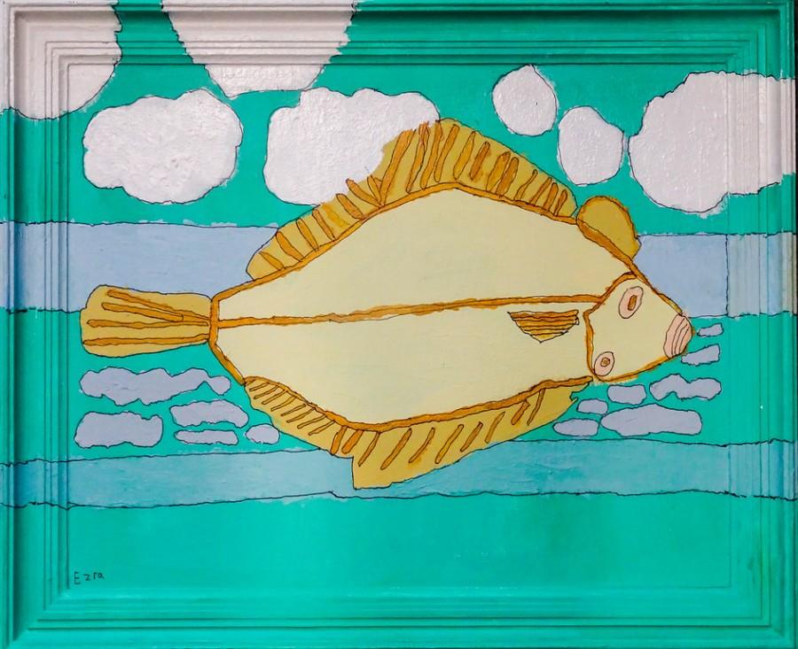 de giegantiese vis ezra van dijke 47x57cm 55,00euro