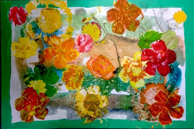 Bloemenbrug Annemiek Vlaspoel 60x90 cm