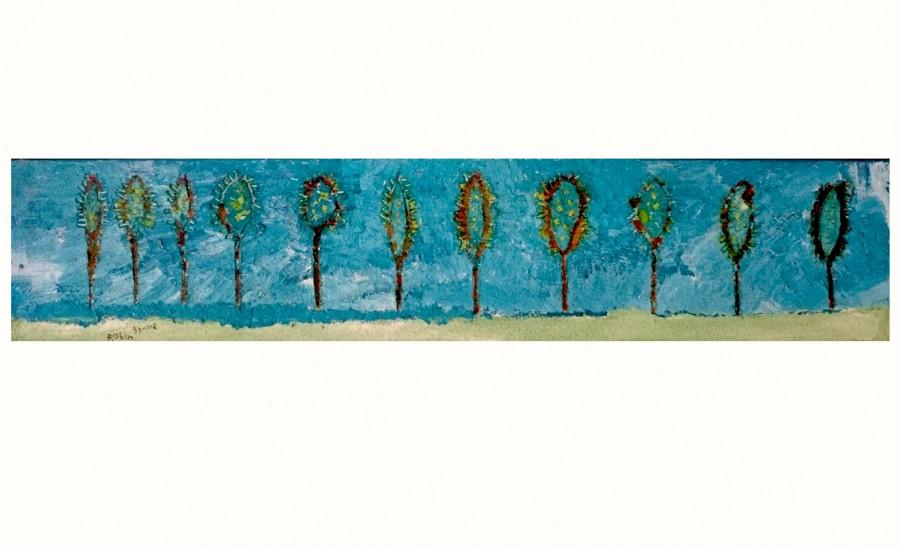 Bomendijk Robin Brusse 120x25 cm op doek