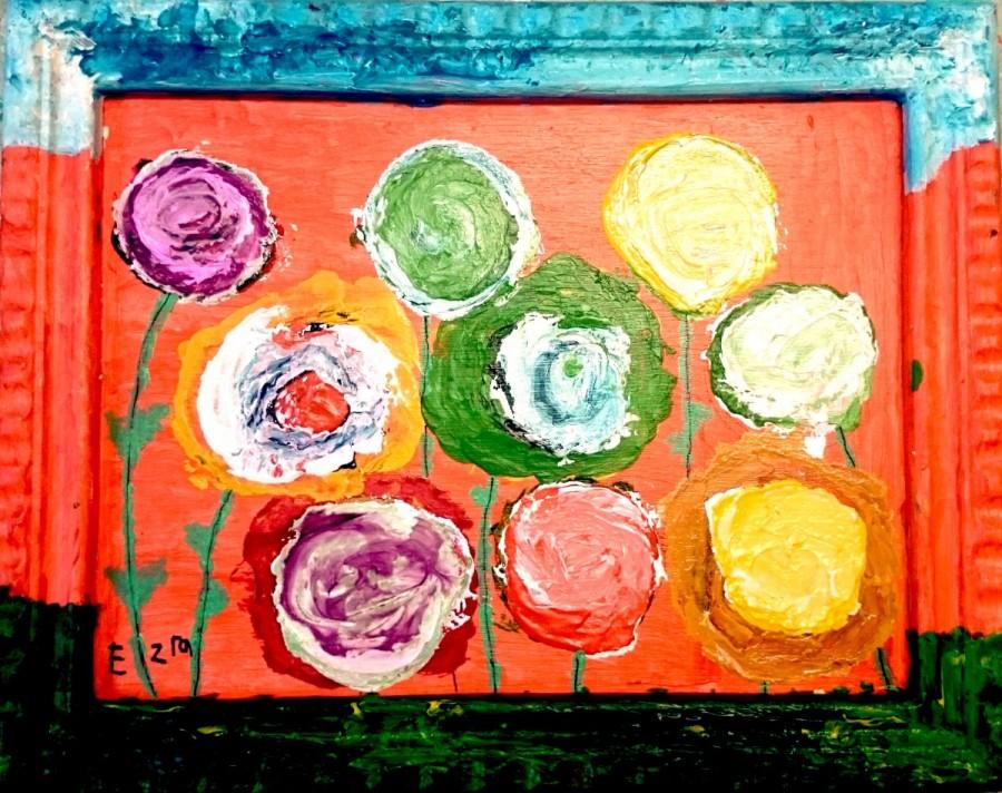 De bloemenkas Ezra van Dijke 38x48 cm