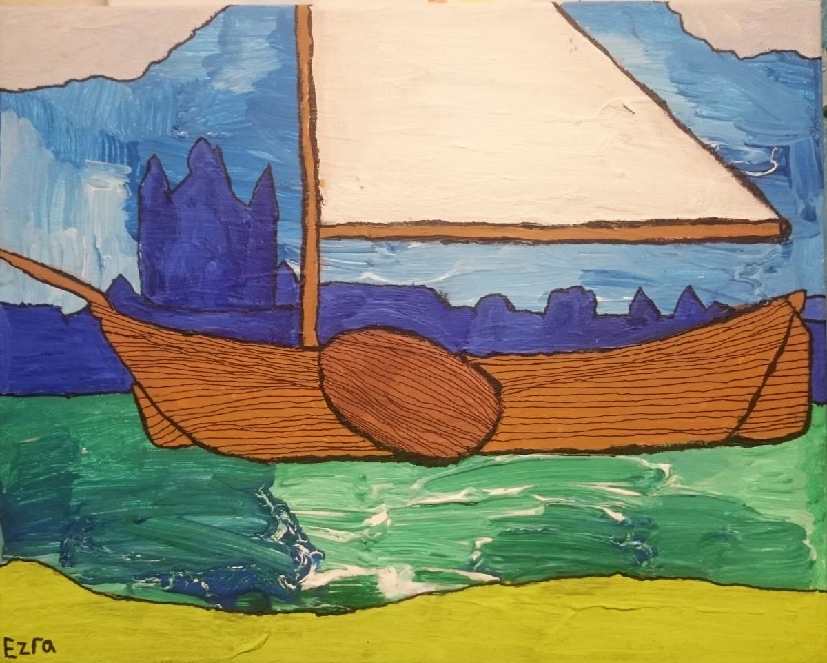 Het oude vlaggenschip van Zierikzee Ezra van Dijke 40x50 cm € 39,00
